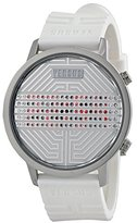 Versus By Versace Women's 3C70800000 Hollywood Digital Silver Dial with Crystals White Rubber Watch