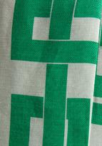 Milly Rectangles Print on Silk Linen and Silk GGT Angular Sheath Dress