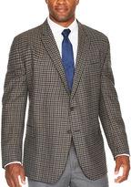 STAFFORD Stafford Merino Wool Sportcoat Gray Brown Check - Big and Tall