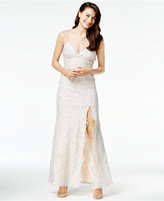 B. Darlin Juniors' Rhinestone-Lace Gown, A Macy's Exclusive Style