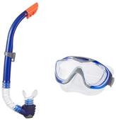 Speedo Dark Blue Glide Mask And Snorkel Set