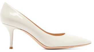 Gianvito Rossi Vernice 70 Patent-leather Pumps - Ivory