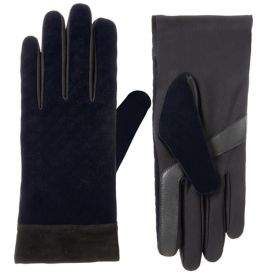 Isotoner Women's Textured Faux Velvet smarTouch Gloves