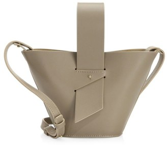 Carolina Santo Domingo Mini Amphora Leather Bucket Bag