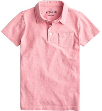 crewcuts by J.Crew Short Sleeve Garment Dye Polo (Toddler/Little Kids/Big Kids) (Estate Blue) Boy's Clothing