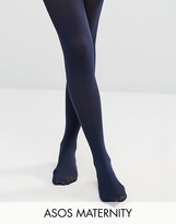 Asos New Improved Fit 80 Denier Tights In Navy