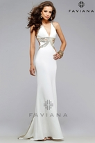 Faviana Stunning Trumpet Dress with Plunging V Neckline 7703