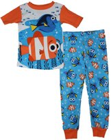 Disney Pixar Finding Dory Little Boys Pajamas Set 2T-5T (, Orange)