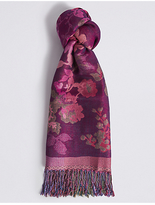 M&S Collection Floral Jacquard Scarf