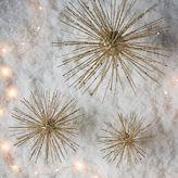 west elm Glitter Burst Ornaments + Tree Topper