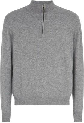 Johnstons of Elgin Half-Zip Cashmere Sweatshirt