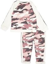 River Island Mini girls pink camo sweat set