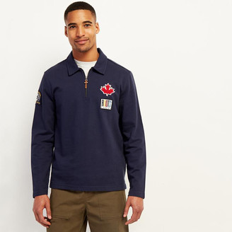 Roots Camp Patch Zip Polo