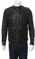 Salvatore Ferragamo Leather Moto Jacket