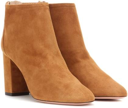 Aquazzura Downtown 85 suede ankle boots