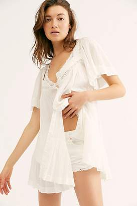 Free People Hearts Desire Solid Blouse