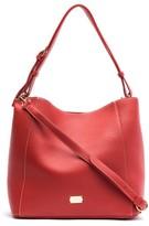 Frances Valentine Medium June Leather Hobo Bag - Black