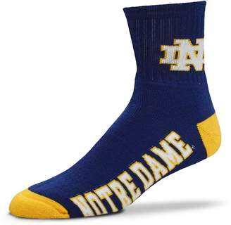 For Bare Feet Adult Notre Dame Fighting Irish Team Color Quarter-Crew Socks