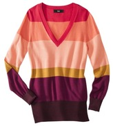 Mossimo Women's Ultra Soft Striped V-Neck Sweaters - Assorted Colors