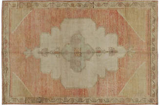 One Kings Lane Vintage Turkish Oushak Rug - 5'2 x 7'11 - faded terracotta/beige/gold/taupe/grey