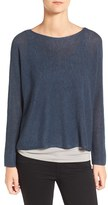 Eileen Fisher Women's Tencel Lyocell & Wool Blend Bateau Neck Sweater