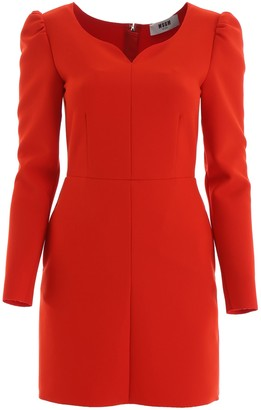MSGM Sweetheart Neckline Fitted Dress