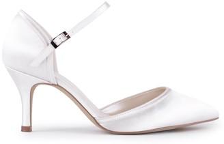 Paradox London Satin 'Aliz' Mid Heel Two Part Court Shoes
