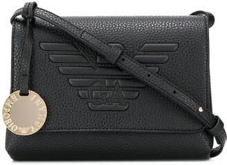 Emporio Armani Logo Embossed Shoulder Bag