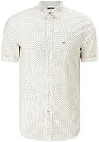 Diesel S-dusk Short Sleeve Check Shirt, Chinchilla