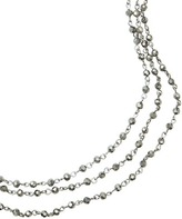 LOFT Long Crystal Ombre Multi Strand Necklace