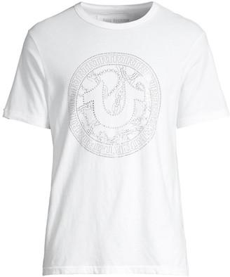 True Religion Branded Graphic Logo Crewneck T-Shirt