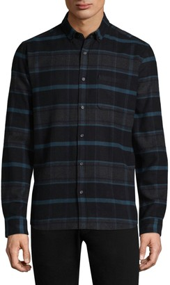 HUGO Plaid Cotton Casual Button-Down Shirt