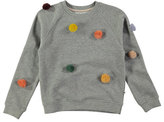 Molo Marcelle Raglan Pompom Sweatshirt, Gray, Size 4-14