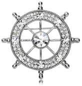 Guirui Jewelry Fashion Navy Rudder Rhinestones Brooch