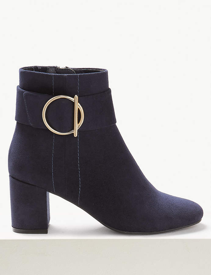 11360fce15f Side Buckle Ankle Boots