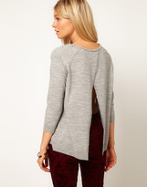 Asos Sweater With Pleat Back