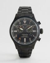 Timex Heritage Waterbury Chronograph Bracelet Watch In Black