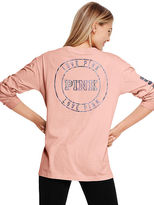 PINK Campus Long Sleeve Henley Tee