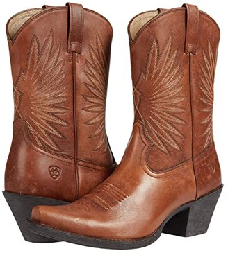 Ariat Goldie (Naturally Distressed Cognac) Women's Boots