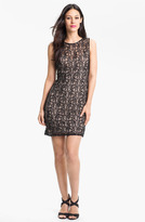 Pisarro Nights Beaded Lace Sheath Dress