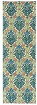 Waverly Treasures Dress Up Damask Blue Jay Area Rug by Nourison (2'6 x 8')