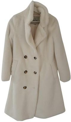 Ducie White Faux fur Coat for Women