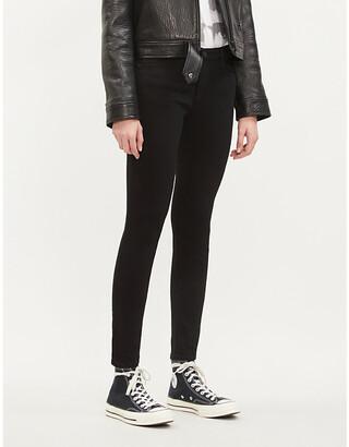 AG Jeans The Farrah super-skinny mid-rise jeans, Women's, Size: 24, Super black