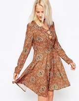 Glamorous Long Sleeve Skater Dress