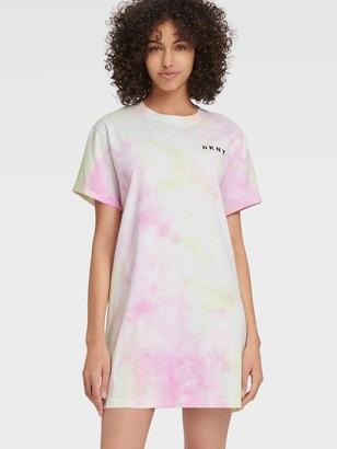 DKNY Women's Tie-dye T-shirt Dress - Multi - Size XS