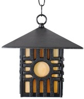 """Penfield 1-Light Outdoor Hanging Lantern Alcott Hill Finish: Architectural Bronze, Size: 12"""" H x 9.25"""" W"""