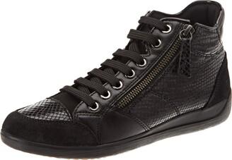 Geox Women's D Myria C Mid-top Sneakers (Black C9999) 4 UK