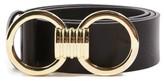 Topshop Women's Circle Buckle Faux Leather Belt
