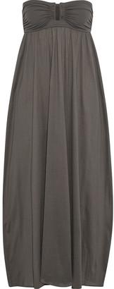 Eres Zephyr Rosalie Strapless Scuba-paneled Cotton-jersey Maxi Dress