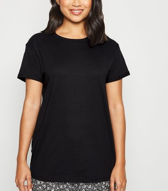 New Look Petite Organic Cotton Roll Sleeve T-Shirt